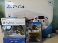 PS4 in box Great Deal 2 controllers lots games all in box all items new condition