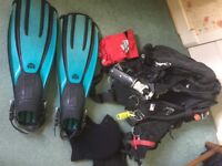 Scuba Diving Gear with Drysuit + Misc accessories