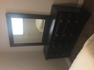 Dark Brown Vaneer Bedroom Set (Princeton)