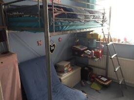 High sleeper with futon