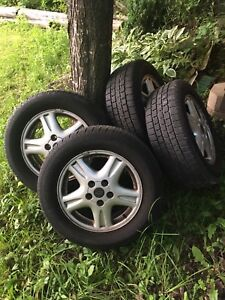 Rims and summer tires off Chevy venture