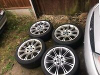 Bmw alloys e46 mv2 18inch with good tyres all 4... e30 e46 e60 etc