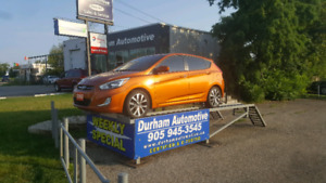 2015 Hyundai Accent - BRIGHT ORANGE/REAR CAM/ LOW KM