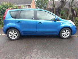Nissan Note 1.4 SE 5DR Petrol with FSH BLUE Drives superb Corsa Astra Yaris