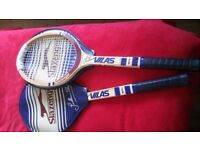 2 x tennis rackets old type wood