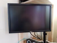 Great condition PC monitor DELL 22 inch with desktop arm and soundbar!