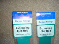 Net curtain rods