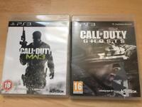 Call of duty Ghosts And Modern warfare 3 PS3