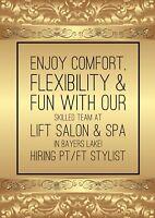 Hiring Stylist ➰ LIFT Salon & Spa Bayers Lake