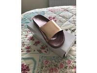 Brand new rose gold sliders size 6 but really small fitting
