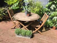 Garden table and 4 chairs £70