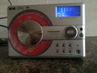 CD/DAB/FM Digital radio and alarm clock by Ferguson with instruction manual