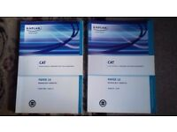 CAT Paper 10 Managing Finances Study Text and Exam Kit Books for sale