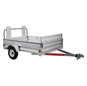 Stirling 5-ft x 7.25-ft Utility Trailer with Ramp Gate for Sale
