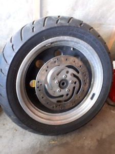 Rear rim from softail