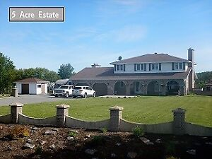 STUNNING HOME w POOL & 5 ACRES