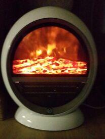 Benross PTC Ceramic Oscillating Fireplace Flame Effect Heater,