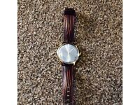 Accurist Men's Blue Dial Brown Leather Strap Watch