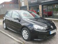 2012 Volkswagen Golf 1.6TDI ( 105ps ) Tech BLUEMOTION 5DR 12 REG Diesel Black