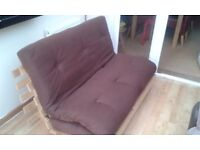CHOCOLATE BROWN DOUBLE FUTON
