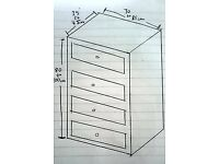 WANTED : Solid Wood Chest of Drawers