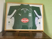 Framed Plymouth Argyle shirt