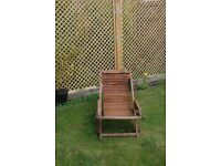 Mahogany deck chair