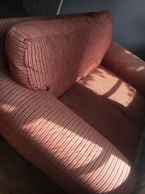 Laura Ashley red striped 2 seater sofa, great condition