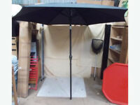 2.7m Black Crank and Tilt Parasol