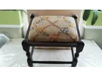 Vintage Hand woven footstool