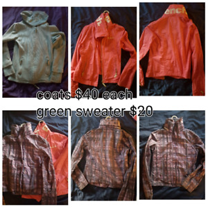 Bench coats and sweater