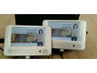 Twin screen car dvd complete with remote chargers and carry case