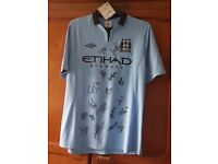 Signed manchester city shirt