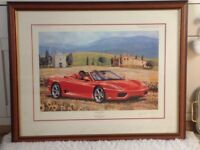 Great limited print of a Ferrari in Tuscany