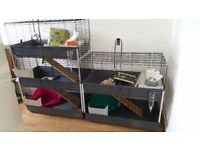 Rabbits small pets 2 and 3 tier cages