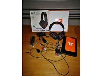 Tritton AX 180 Universal Gaming Headset (PS3/Xbox 360/PC/Mac) with Audio Adapter and extras