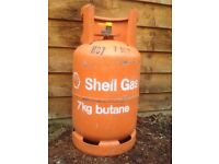 BUTANE 7KG EMPTY GAS BOTTLE £15 COLLECTION ONLY