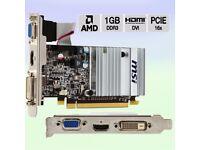 MSI R5450-MD1GD3H/LP ATI Radeon HD 5450 Graphics Card PCI-e 1 GB DDR3 Memory Dual DVI HDMI