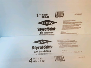 Dow Styrofoam blue board insulation