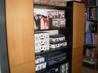 Contemporary Display Unit in Beech and Black