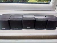 5 Bose Acoustimass Cube Jewel Speakers Home Cinema