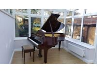 Stunning Yamaha C3 grand piano in mahogany polyester case