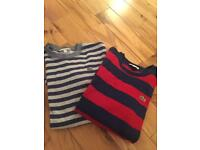Two Boys Lacoste jumpers age 10.