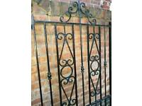 Heavy wrought iron gate