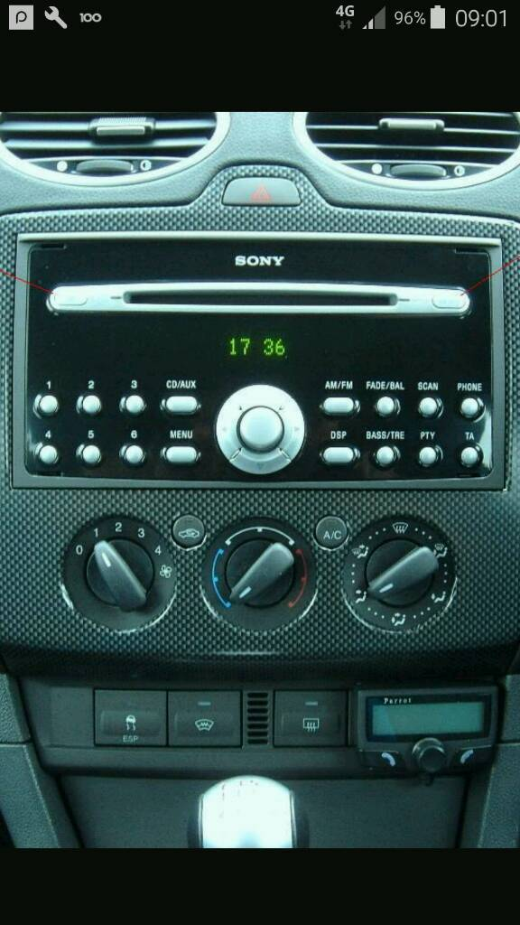 Ford focus Sony Mp3 stereo