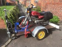 Motorcycle trailer - heavy duty German made