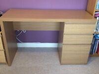 Light oak wooden desk for sale.