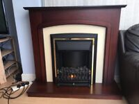 Dark Rosewood electric fire suite-immaculate condition
