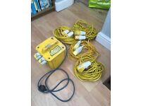 Portable 110V 3.3kVA Transformer (2 Sockets) with Cables