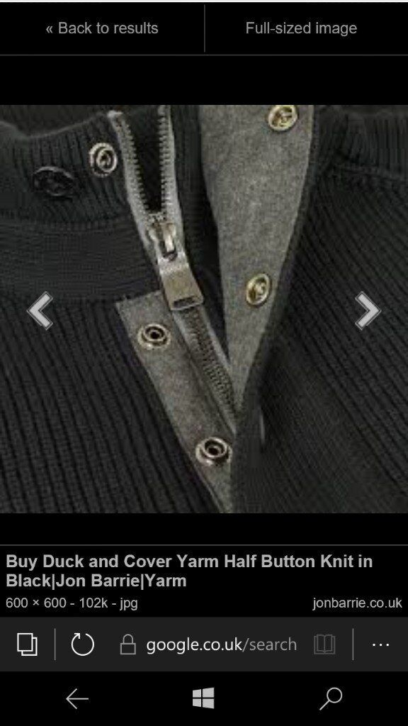 Duck and Cover knitwear half button half zip